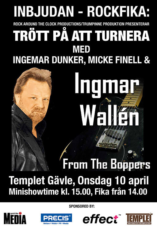 Rock´n Roll-fika på Templet onsdag 10 april
